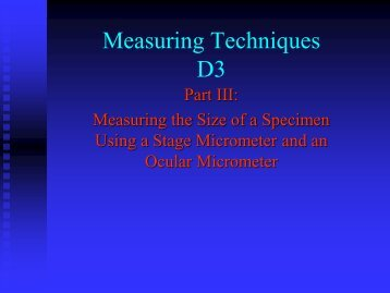 Measuring Techniques D3