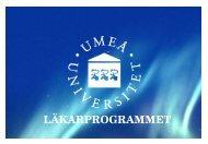 Presentation regionalisering - Medicinsk fakultet - Umeå universitet