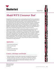 Model WFX Crossover Tool - Weatherford International
