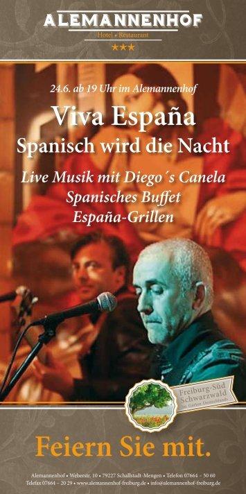 24. Juni ab 19.00 Uhr Live Musik - Genuss ... - Alemannenhof