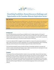 Unearthing Possibilities: Human Resources Challenges and ... - MiHR