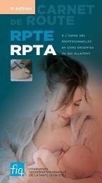 RPTE et RPTA - Carnet de route à l'usage des ... - FiQ