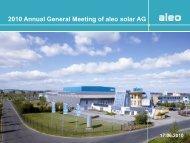 Annual General Meeting 17.06.2010 - aleo-solar.com