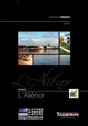 33 Bordeaux, Eysines L'Alienor - Azur InterPromotion