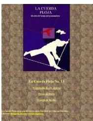La Cuerda Floja No. 13 - Facultad de Ciencias Sociales