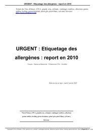 URGENT : Etiquetage des allergènes : report en ... - Les Vins d'Alsace