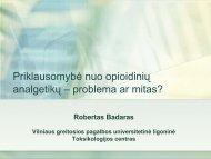 Priklausomybė nuo opioidinių analgetikų – problema ar ... - I-Manager