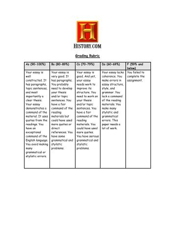 history research essay marking rubric us history essay and research paper rubric