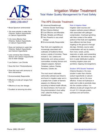 Irrigation Water Treatment - AquaPulse Systems