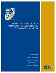 Olympic Sporting Legacy: Proposals for a successful Post ... - CIES