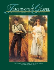 Teaching the Gospel A Handbook for CES Teachers and Leaders