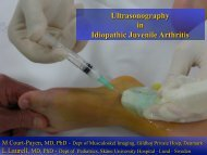 Ultrasonography in Idiopathic Juvenile Arthritis - Henry Ford Health ...