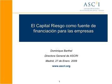 El Capital Riesgo como fuente de financiación para las empresas