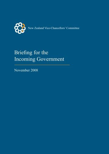 Briefing for the Incoming Government - Universities New Zealand ...