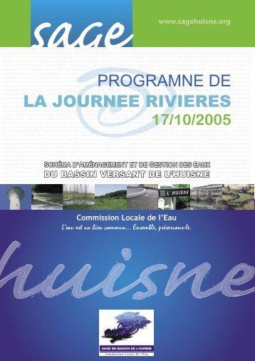 programne de la journee rivieres - (SAGE) du bassin de l'Huisne