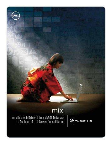mixi Mixes ioDrives into a MySQL Database to Achieve ... - Fusion-io