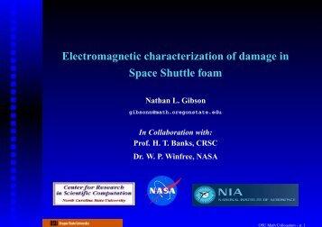 Electromagnetic characterization of damage in Space Shuttle foam