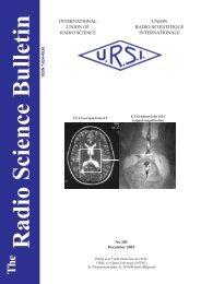 Radio Science Bulletin 303 - December 2002 - URSI