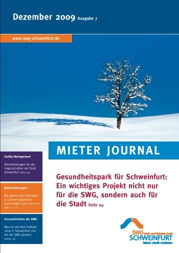 Mieter Journal der SWG - Ausgabe 7 (Dezember 2009)