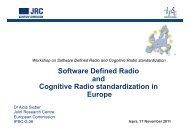 Software Defined Radio and Cognitive Radio standardization ... - IPSC
