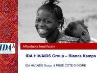 IDA HIV/AIDS Group – Bianca Kamps - ReMeD