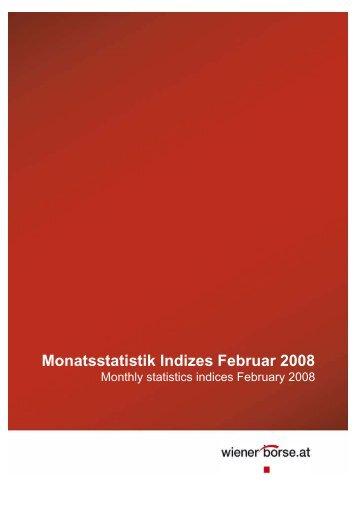 Monatsstatistik Indizes Februar 2008 - Indices.cc
