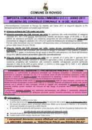 comune di rovigo imposta comunale sugli immobili (ici) - anno 2011 ...