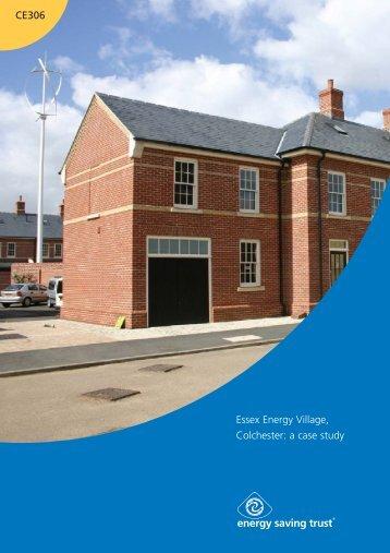 Essex Energy Village, Colchester: a case study CE306