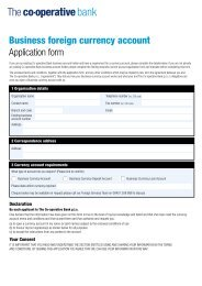 Business foreign currency account Application form - The Co ...