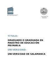 Grado de Educación Primaria - Universidad de Salamanca