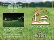 Carte de pointage Le Duvernay - Centre du golf UFO