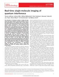 Real-time single-molecule imaging of quantum interference