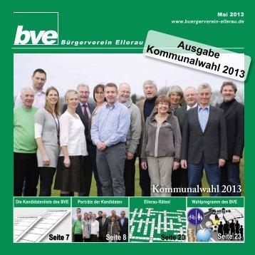 Kommunalwahl 2013 - Bürgerverein Ellerau