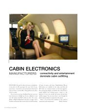 CABIN ELECTRONICS - Business Jet Traveler