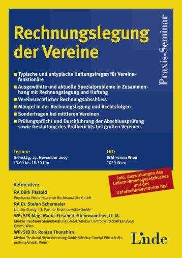 Rechnungslegung derVereine - Lansky Ganzger & Partner