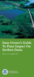 Dam Owner's Guide To Plant Impact on Earthen Dams - Federal ...
