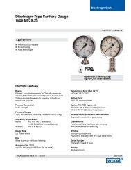 Diaphragm Sanitary Gauge Type M93X.25 - WIKA