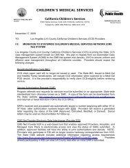 children's medical services - Department of Public Health - Los ...