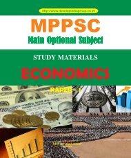 MPPSC Main Exam Optional Economics Paper 1 content.pdf
