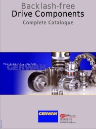 GERWAH - Backlash-free Drive Components - Complete Catalogue