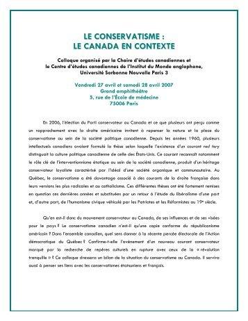 Programme - Faculté des sciences sociales - Université d'Ottawa