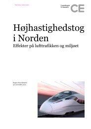 Højhastighedstog i Norden - Copenhagen Economics