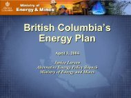 British Columbia's Energy Plan British Columbia's ... - Pollution Probe
