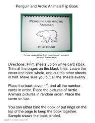 Penguin and Arctic Animals Flip Book - 123 Learn Curriculum