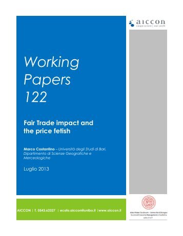 Working Papers 122 Fair Trade impact and the price fetish - Aiccon