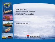 2010 Full-Year Financial Results Analysts Presentation - modec