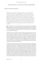 LES COMMUNISTES ET LA QUESTION NATIONALE - Centre for ...