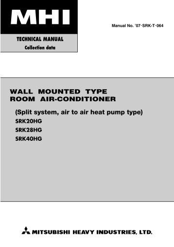 (Split system, air to air heat pump type)