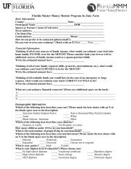 FMMM Participant Intake Form