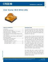 Cree XLamp XP-Family Binning and Labeling - LEDS.de